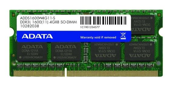 Memoria RAM 4 GB 1x4GB ADATA ADDS1600W4G11-S