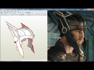 Casco Thor Ragnarok Para Armar En Fomi