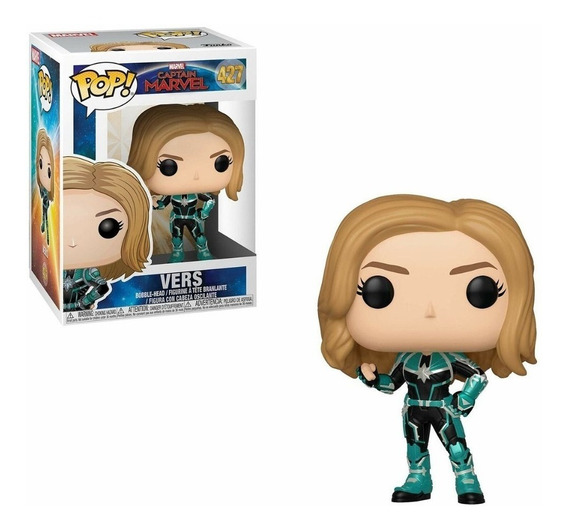 Muñeco Funko Pop Capitana Marvel 148 Unmasked Original