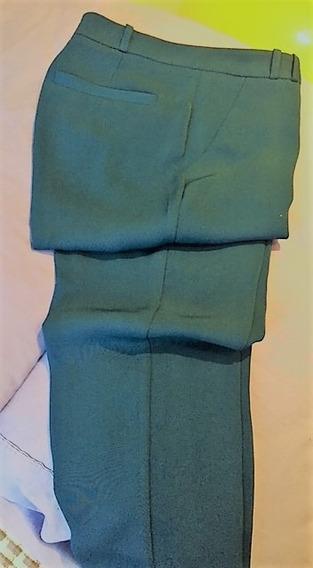 Pantalón De Vestir Dama Azul Índigo, Poliester De Seda