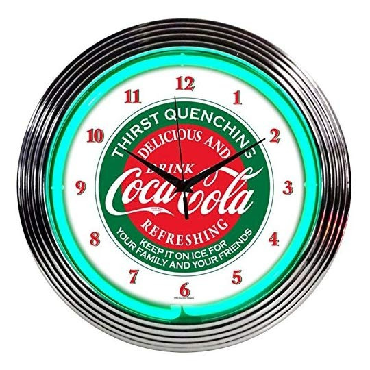 Neonetics Bebidas Coca Cola Evergreen  reloj De Pared De N