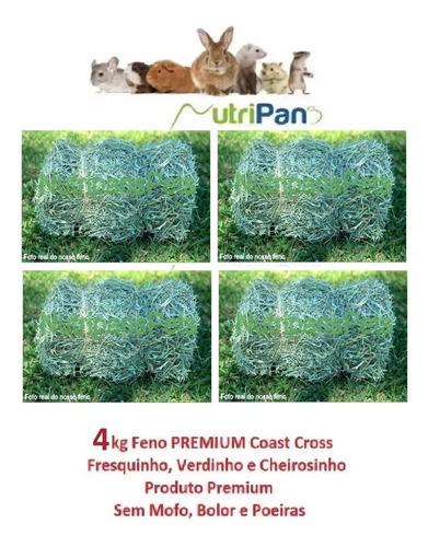 Feno Coast Cross Premium Para Roedores Mini Pigs 4kg