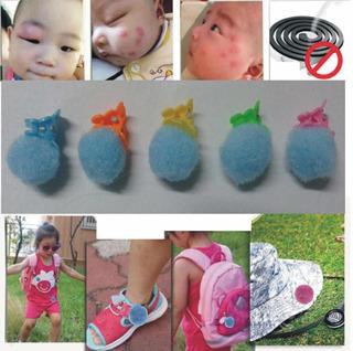 Boton Pompom Antimosquito Anti Mosquito Pulsera X10 $