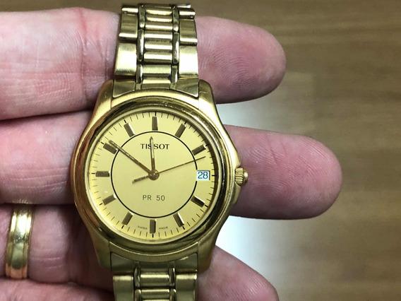 Relógio Tissot Pr 50 Banhado A Ouro