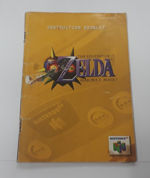 Manual Legend Of Zelda Majoras Mask N64 - Somos Loja Física!