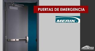 Puerta Emergencia Merik C/ Marco Acero Salida 1.02x2.19m