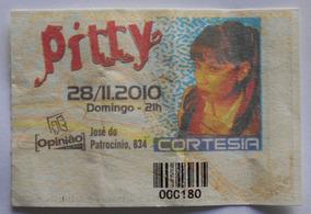 Pitty Ingresso Show Porto Alegre Opinião Novembro De 2010