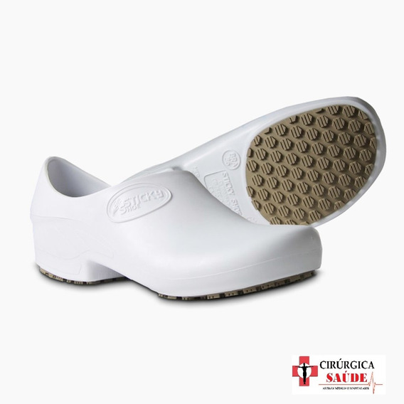 Sapato Tamanco Profissional Enfermagem Branco Ca 39848 - 38