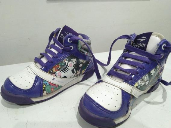 Zapatillas Topper Para Niña. Talle 28. Color Violeta