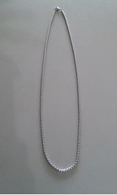 Corrente Fina Aço Inox 316l Veneziana 55cm(cor Prata)