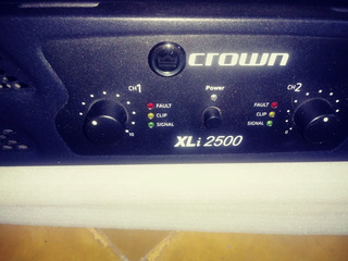 Potencia Crown Xli 2500 .1500whats. 750 W Por Lado En 4 Ohm.