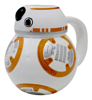 Taza Tarro De Ceramica Bb8 3d Star Wars Para Cafe