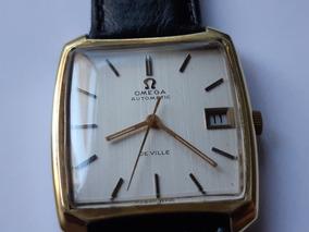Relógio Omega De Ville Automático Plaquê De Ouro Amarelo