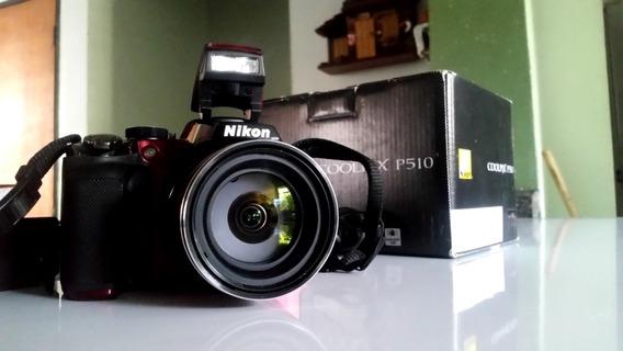 Cámara Nikon Coolpix P-510 (usada) + 2 Baterías De Repuesto