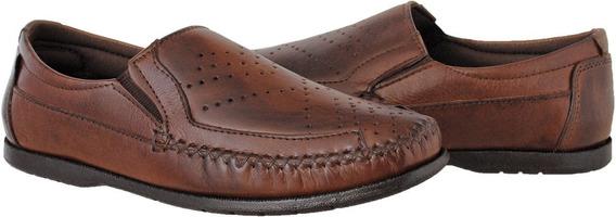 Sapato Mocassim Masculino Couro Casual Conforto Elegância