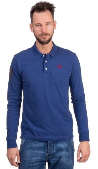 La Martina Camisa Polo Para Hombre De Manga Larga, Talla L.