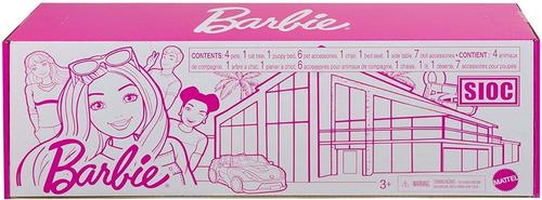 Imagem 1 de 8 de Barbie 3 Sets De Acessórios Pets Casa Gato Cachorro