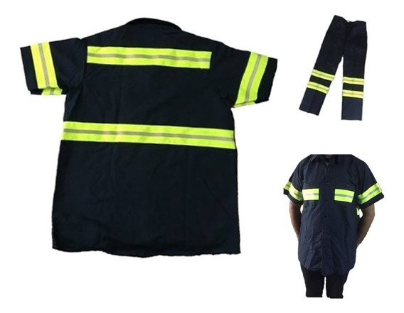 Uniforme Industrial Camisa Reflejante Ultimas Pieza #10