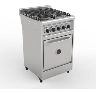 Cocina Industrial Fornax 60cm 4 Hornallas Acero Ahora 12/18
