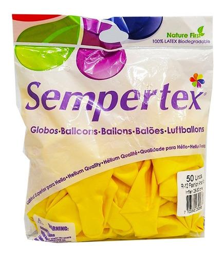 Bombas R12 Fashion Amarillas X 50 Unds Sempertex.