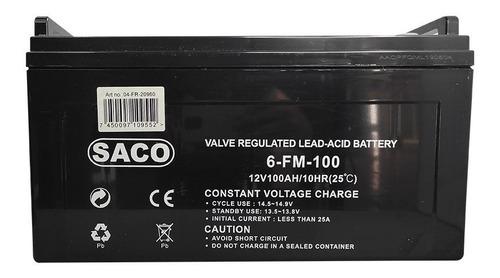 Imagen 1 de 3 de Bateria Plomo Acido 12v 100ah Ciclo Profundo Ups Carritos