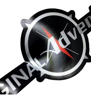 Par De Adesivos Emblema Original Adventure Fiat Strada