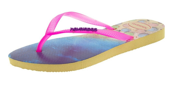 Chinelo Feminino Slim Paisage Marfim/pink Havaianas - 413261