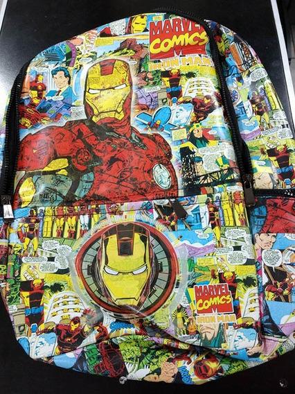 Mochila Bioworld Cuerina Iron Man Comic