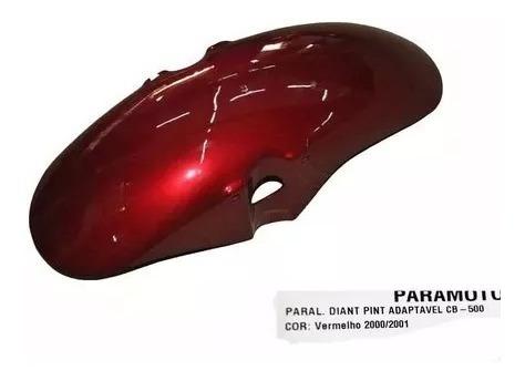 Paralama Dianteiro Cb 500 Vermelho 2000-2001 - [paramotos]