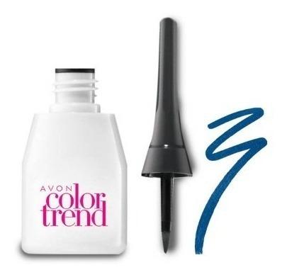 Avon Delineador Líquido Color Trend Azul Metálico 3ml