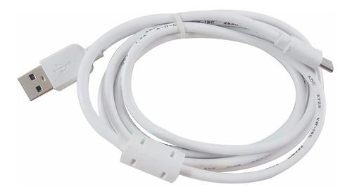 Cable Tipo C Color Blanco 1m Carga Alta Veloc