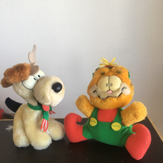 Peluches Garfield Y Oddie Original 1980 -