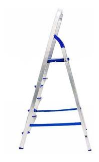 Escada Doméstica Dobrável Em Alumínio - 4 Degraus - Alume