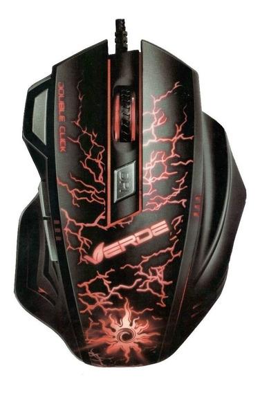 Mouse Gamer X7 Verde E-sports 3200 Dpi Usb 7 Botões Led