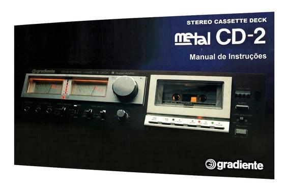 Manual Do Tape Deck Gradiente Cd-2 (versão A Cores)