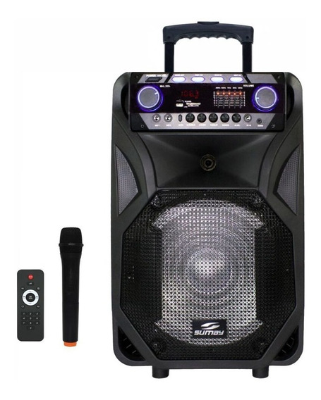 Caixa De Som Portátil Amplificada Usb Mp3 Radio Fm 400 Wrms