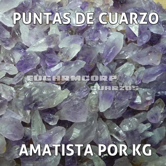 Puntas De Cuarzo Amatista Brasileño Por Kilo Cuarzo Trc23