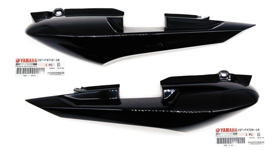 Par De Rabeta Preta Yamaha Fazer 150 Original