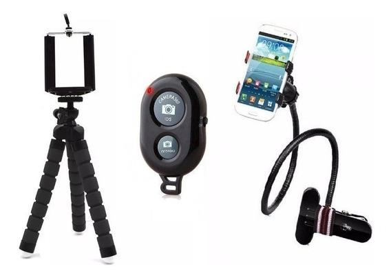 Tripe Flexivel + Controle Bluetooth + Suporte Articulado