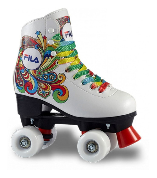 Patins Infantil Bella White (30 Ao 35)