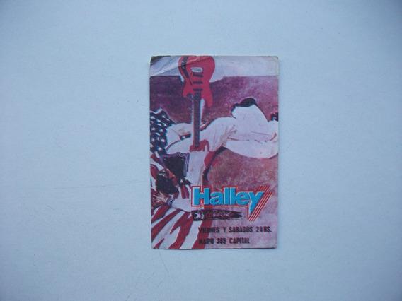 Tarjeta Del Boliche Halley Discoteque - Calle Maipú Año 1988