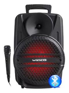 Bafle Potenciado Winco W235 Usb-blueooth-led-mic-fm