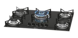 Fogão cooktop a gás Fischer 1743-5733 preto-ébano 110V/220V (Bivolt)