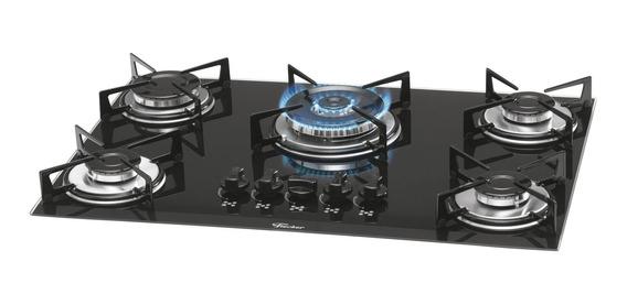 Fogão cooktop a gás Fischer 1743-5733 preto-ébano 110V/220V