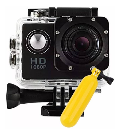 Mini Câmera Prova D´água Filmadora Microfone 1080p + Boia