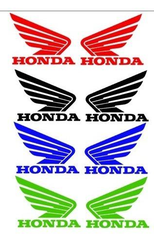 Adesivo Asas Personalizada Honda Plotado Para Tanque Motos