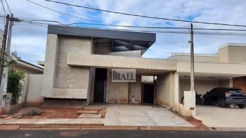 Casa À Venda Condomínio Village Rio Preto Com 305m², 3 Quartos - V3983