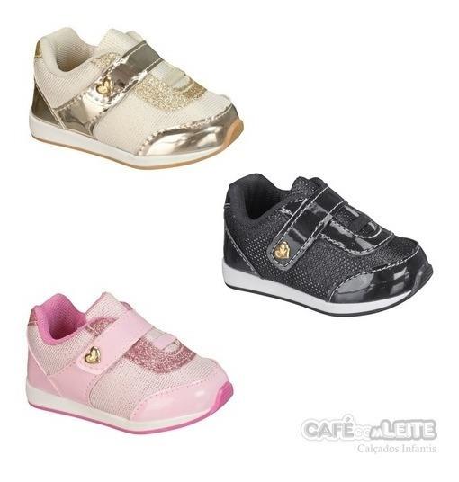 Kit Tênis Infantil Menina Bebe (com 3 Pares)