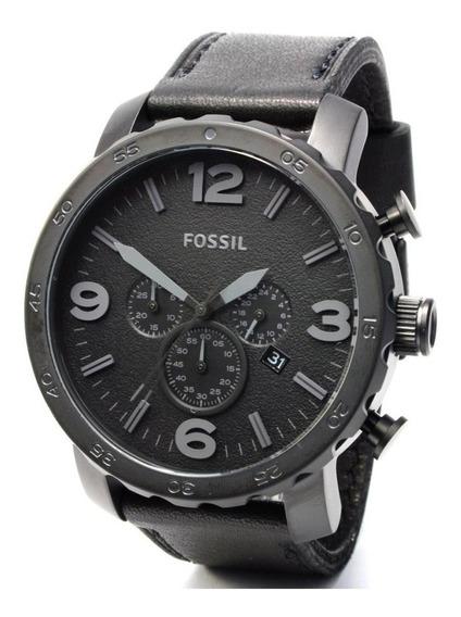 Relógio Masculino Fossil Jr1354 Pulseira Em Couro Cor Preto Caixa 50mm Original Nota Fiscal Garantia + Brinde Promoção