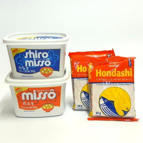 Kit Sopa Missoshiru (2 Misso Aka Shiro 500g + 2 Hondashi)